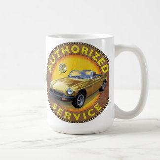 MGB rubber bumper car Classic White Coffee Mug