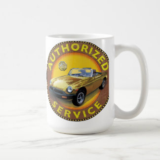MGb rubber bumper service sign Classic White Coffee Mug
