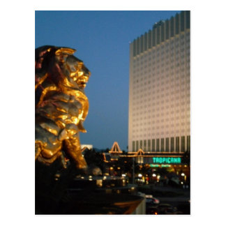 MGM Lion over looking the Las Vegas Strip Postcard