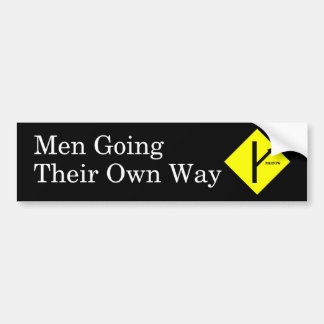 MGTOW Bumper Sticker Black Background