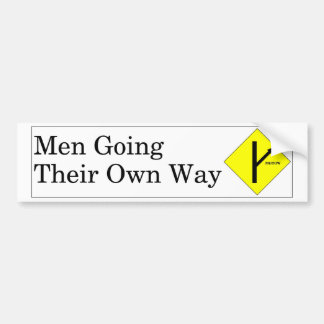 MGTOW Bumper Sticker White Background