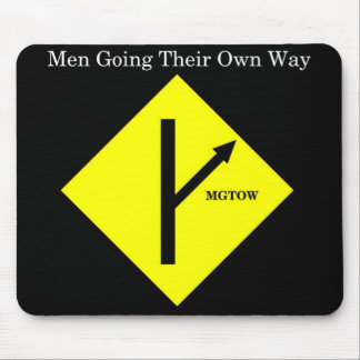 MGTOW Mousepad-Black Background Mouse Pad