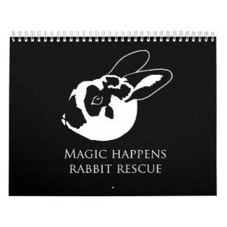 MHRR Honeybadger Bunny Rabbit 12 month calendar