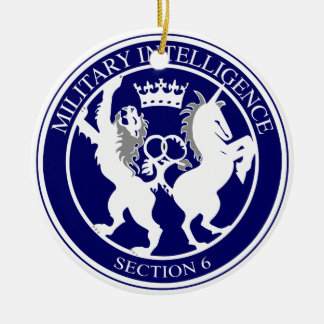MI6 Logo Button Ceramic Ornament