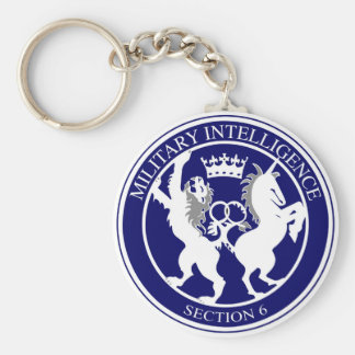 MI6 Logo Button Key Ring
