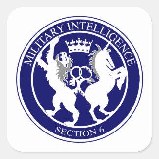 MI6 Logo Button Square Sticker