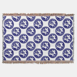 MI6 Logo Button Throw Blanket