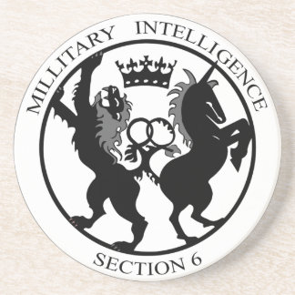MI6 Logo Secret Service Coaster