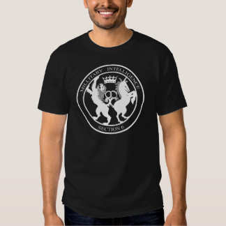 MI-6 Secret Service Logo White T-shirts