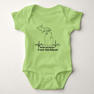 MI baby heart beats pure michigan Baby Bodysuit