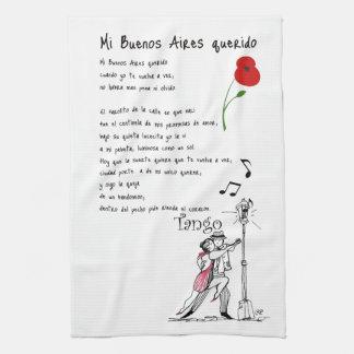 Mi Buenos Aires Querido Tango Tea Towel