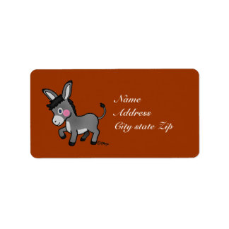 Mi burro label