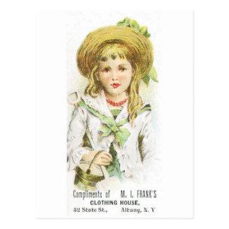 MI Franks Clothing House Postcard