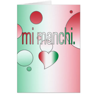 Mi Manchi! Italy Flag Colors Pop Art Card