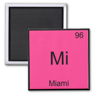 Mi - Miami Florida City Chemistry Element Symbol Square Magnet