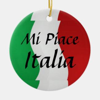 Mi Piace Italia Italian Flag Ornament