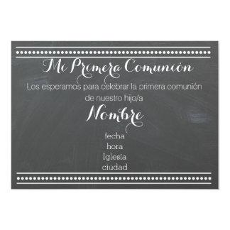 Mi Primera Comunión - chalkboard design invitation