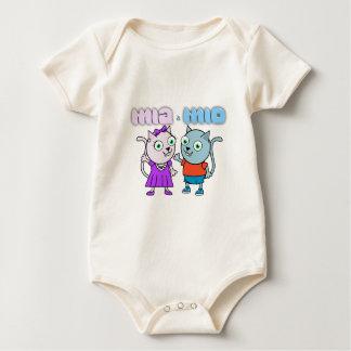 Mia and Mio comestible items Baby Bodysuit
