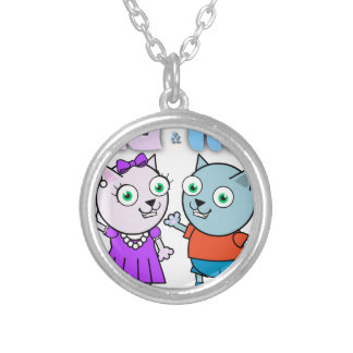 Mia and Mio comestible items Silver Plated Necklace