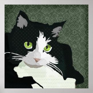 Mia Art Green Canvas Poster