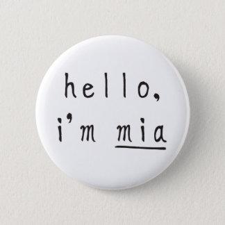 mia, boo & friends button