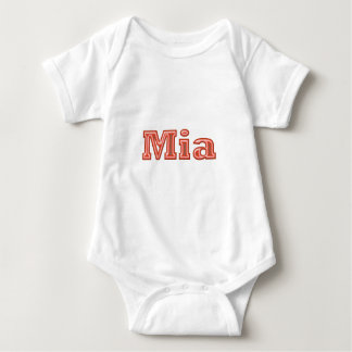 MIA   Girl Name Text Baby Bodysuit