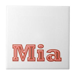 MIA   Girl Name Text Small Square Tile
