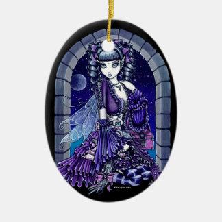 """""""Mia"""" Gothic Victorian Cat Fairy Ornament"""