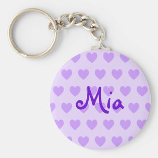 Mia in Purple Key Ring
