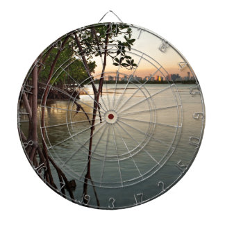 Miami and Mangroves at Sunset Dartboard