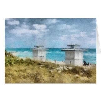 Miami Beach Artwork Greeting Card