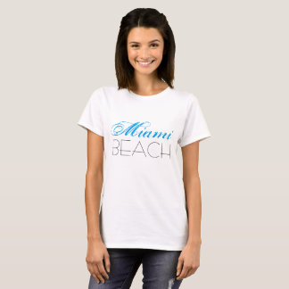 Miami Beach Blue and Black customizable T-Shirt