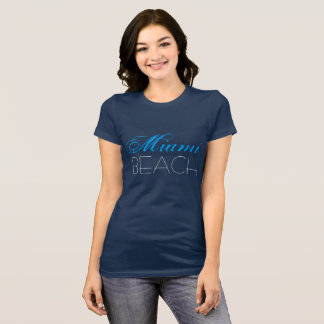 Miami Beach Blue customizable T-Shirt