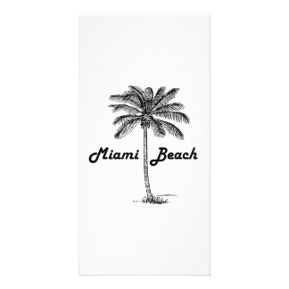 Miami Beach Customized Photo Card