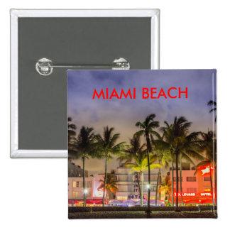 MIAMI BEACH FLORIDA 15 CM SQUARE BADGE