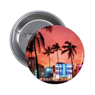 Miami Beach, Florida 6 Cm Round Badge
