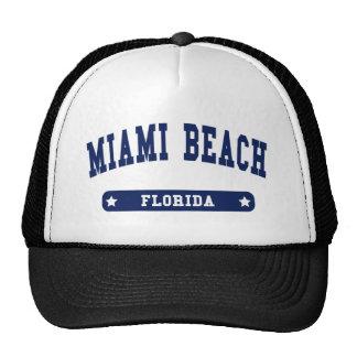 Miami Beach Florida College Style tee shirts Hat