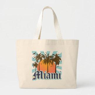 Miami Beach Florida FLA Large Tote Bag
