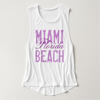 Miami Beach Florida Flowy Muscle Tank Top