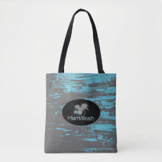Miami Beach, Florida, Grunge Tropical, Cool Tote Bag