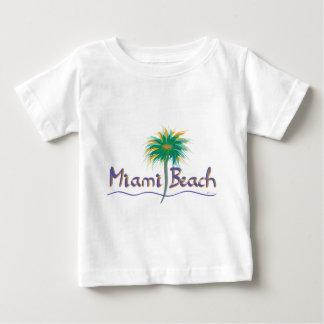 Miami Beach, Florida Palm Baby T-Shirt