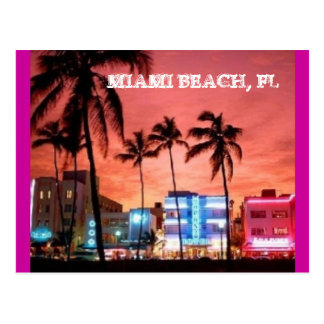 Miami Beach Florida Post Card