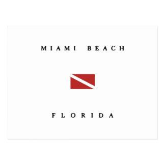 Miami Beach Florida Scuba Dive Flag Postcard