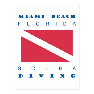 Miami Beach Florida Scuba Dive Post Cards
