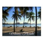 Miami Beach Florida, Sunset  Postcard