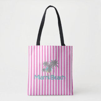 Miami Beach, Florida, Tropical, Cool Tote Bag