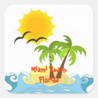 Miami Beach Florida tropical sticker