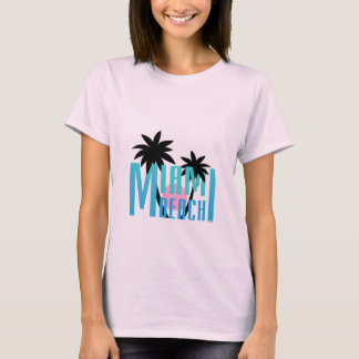 Miami Beach, Florida, Typography Cool T-Shirt