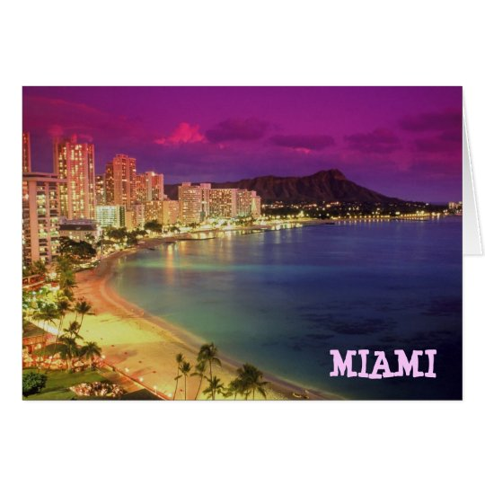 MIAMI BEACH, Florida 'WISH YOU WERE HERE' Card