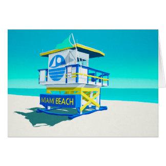 Miami Beach Hut. Card